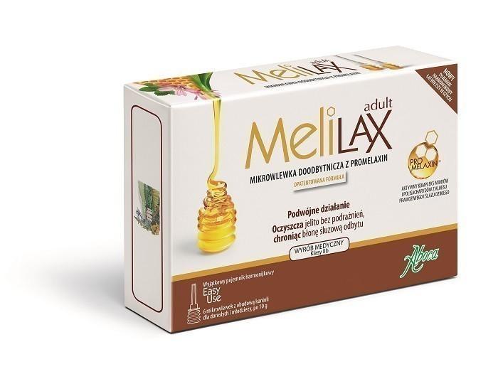 Aboca Melilax Adult 6 mikrowlewek dla dorosłych