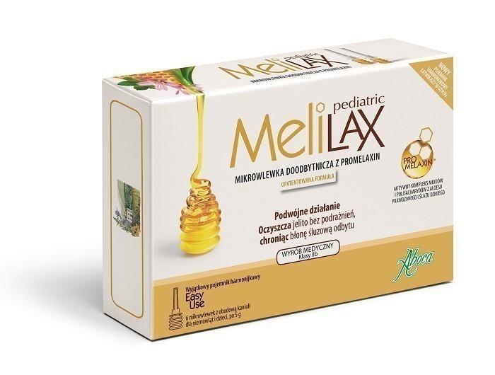 Aboca Melilax Pediatric 6 mikrowlewek dla dzieci
