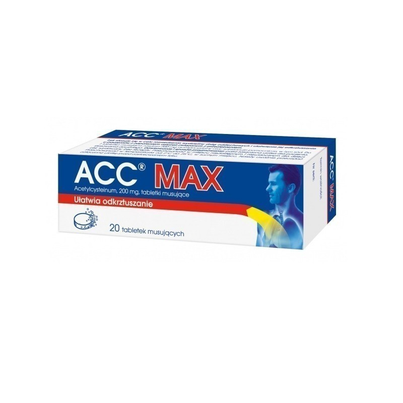 Acc Max 200 mg 20 Tabletek musujących
