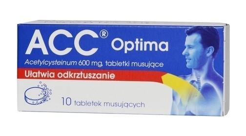 ACC Optima 600 mg 10 Tabletek Musujących