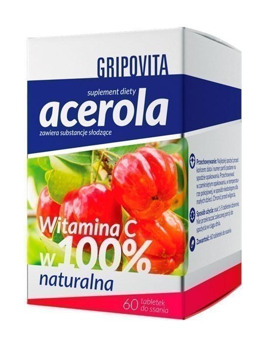 Acerola Gripovita 60 Tabletek