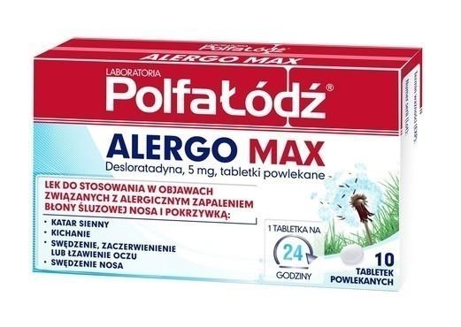 Alergo Max 10 Tabletek