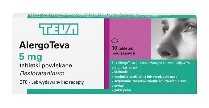 AlergoTeva 5 mg 10 Tabletek