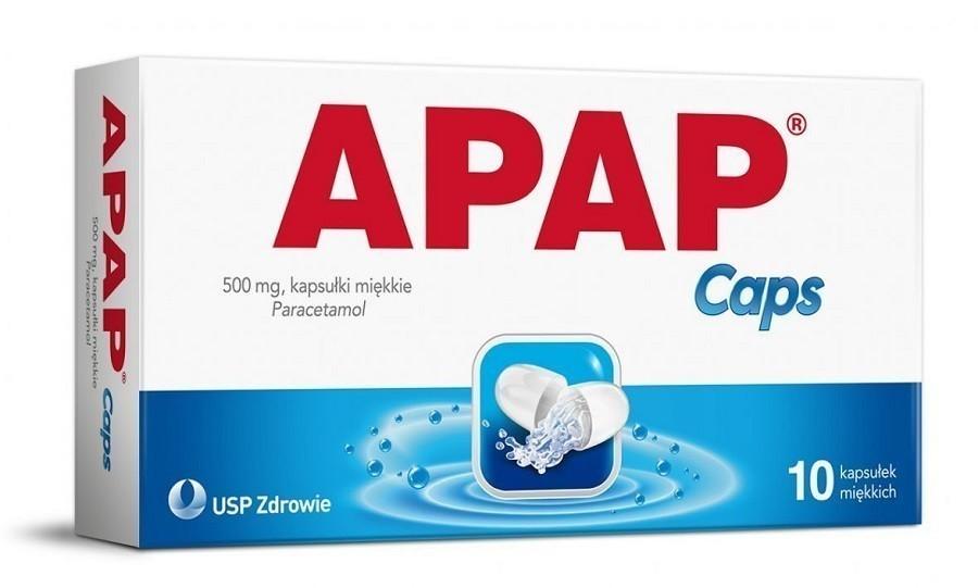 Apap Caps 500 mg 10 Kapsułek