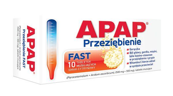 Apap Przeziębienie Fast 10 Tabletek Musujących