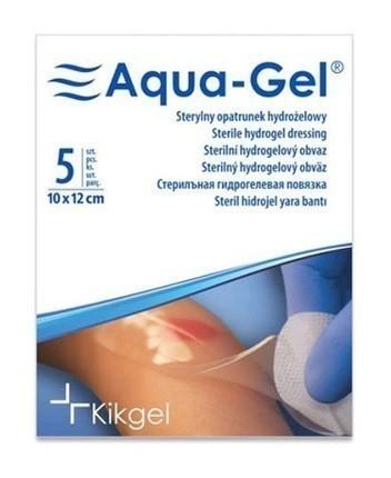Aqua-Gel Opatrunek Hydrożelowy 10x12cm 1 szt.