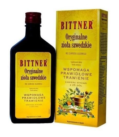 Bittner Oryginalne Zioła Szwedzkie Tonik zioł.