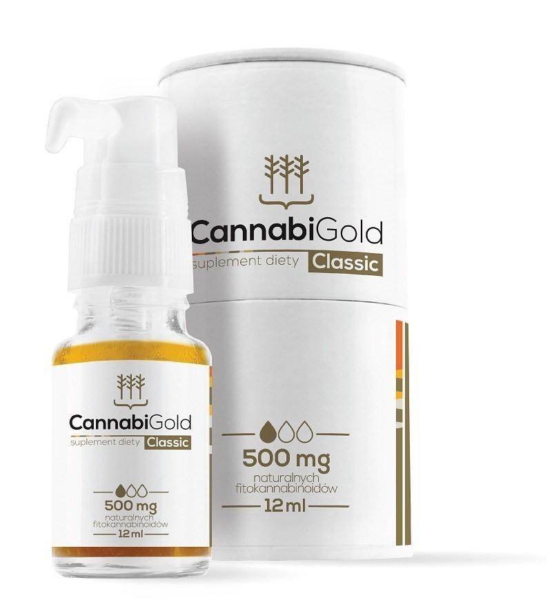 CannabiGold Classic 5% 500 mg Olejek 12 ml