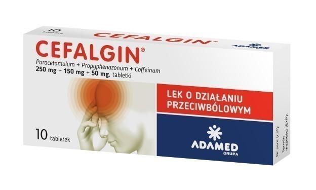 Cefalgin 10 Tabletek