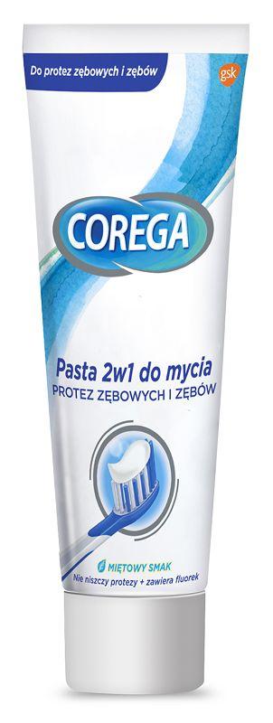 Corega 2w1 Pasta do Mycia Protez 75 g