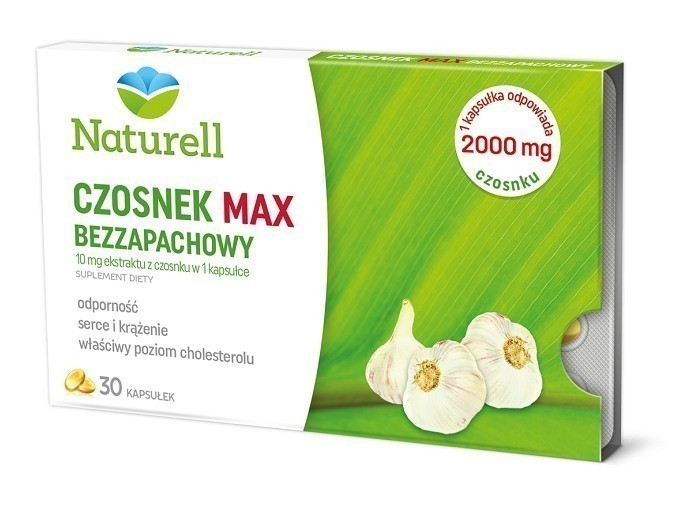 Naturell Czosnek Max Bezzapachowy 30 Kapsułek