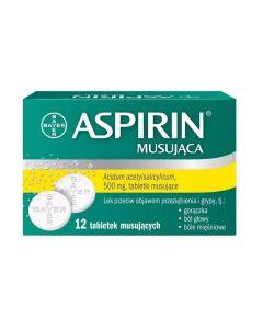 Aspirin Musująca 500 mg 12 Tabletek Musujących