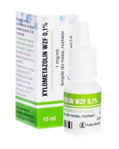 Xylometazolin WZF 0.1% Krople 10 ml