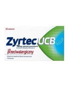 Zyrtec UCB 10 mg 10 Tabletek