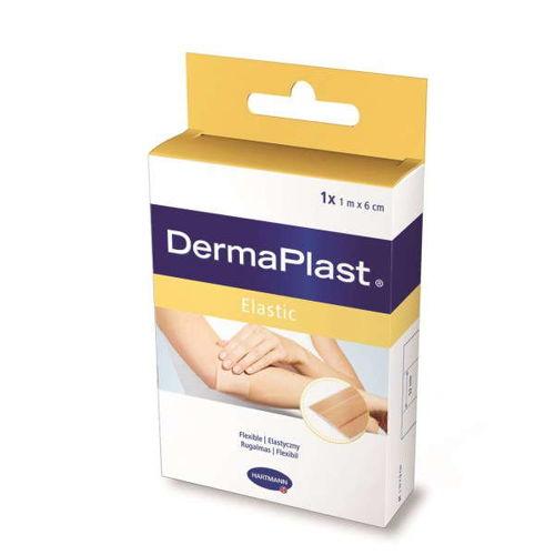 Dermaplast Elastic Tkanina Cielisty 6 cm x 1 m 1 szt.