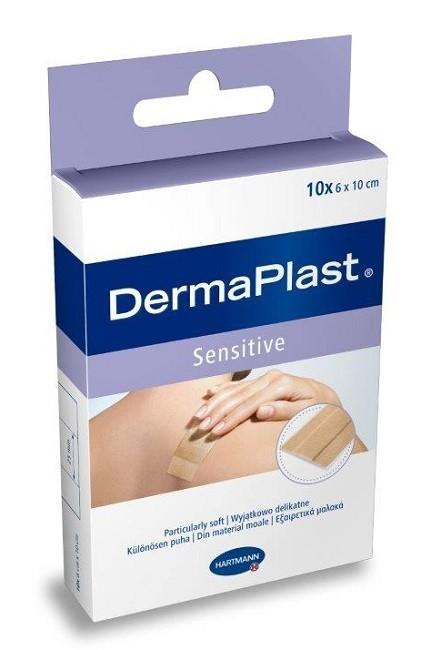 Dermaplast Sensitive 6 cm x 10 cm Plastry 10 szt.