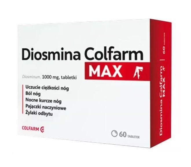 Diosmina Colfarm Max 60 Tabletek
