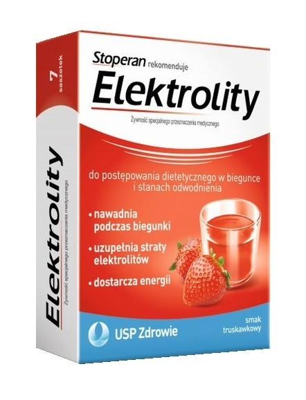 Elektrolity Smak Truskawkowy 7 Saszetek