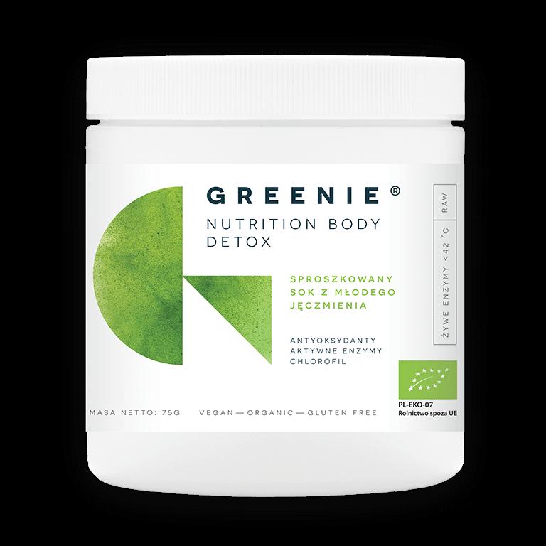 Greenie - sproszkowany bio sok z młodego jęczmienia