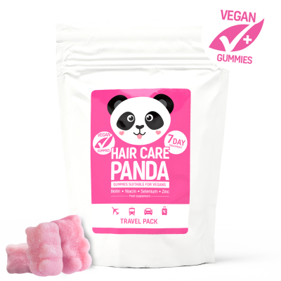 Noble Health Hair Panda Żelki Travel Pack 14 szt.