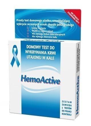 Hemoactive Test Do Wykrywania Krwi Utajonej w Kale 5 szt.