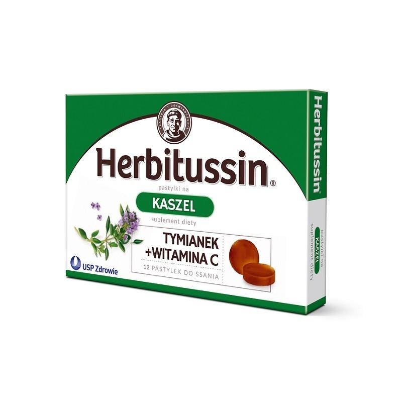 Herbitussin Kaszel 12 Pastylek