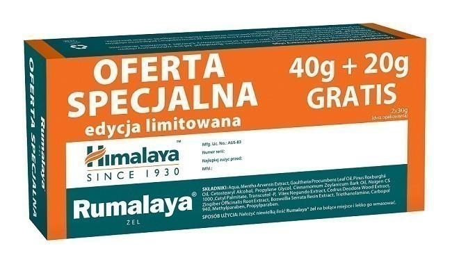 Himalaya Rumalaya Żel 40 g + 20 g Gratis