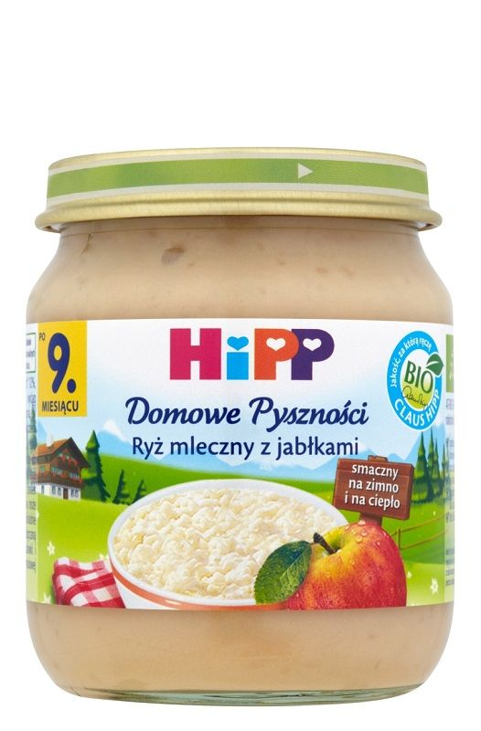 Hipp Domowe Pyszności Ryż Mleczny z Jabłkami Bio