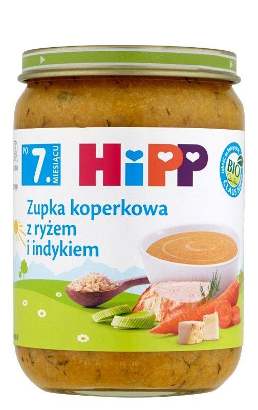 Hipp Koperkowa z Ryżem i Indykiem