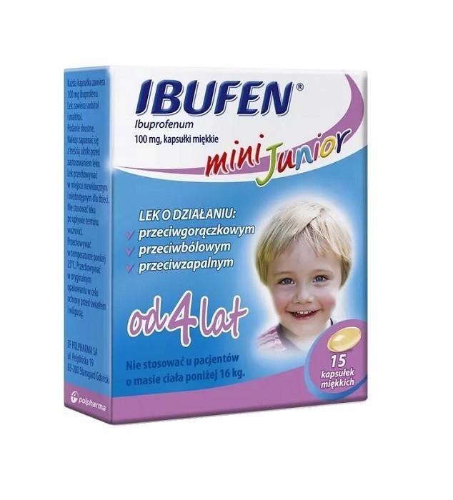 Ibufen Mini Junior 15 Kapsułek
