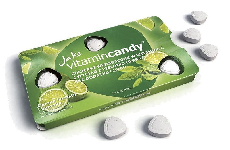 Jake Vitamin Candy Limonkowe z witaminą C i zieloną herbatą