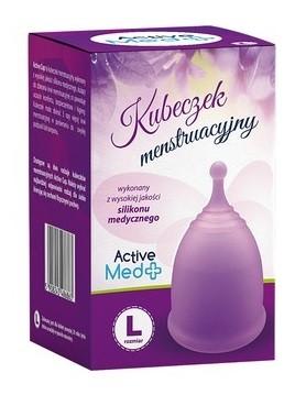 Active Med Kubeczek Menstruacyjny L + Pojemnik do dezynfekcji