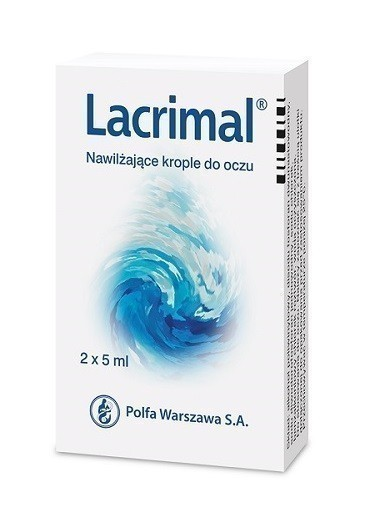 Lacrimal 1,4% Nawilżające Krople do oczu 2x5 ml