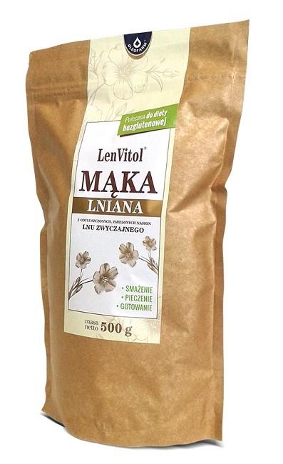 LenVitol Mąka Lniana 500 g