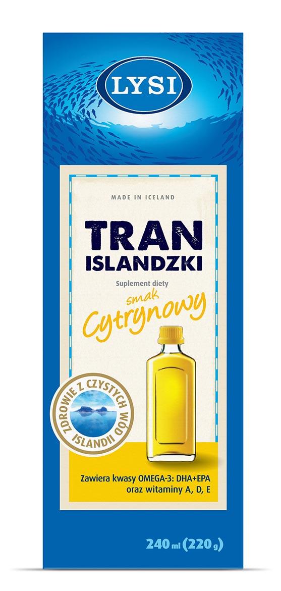Lysi Tran Islandzki - smak cytrynowy