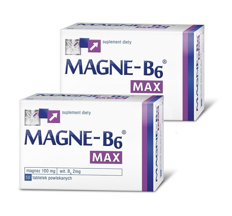 Magne B6 Max 50 Tabletek 1+1 Gratis