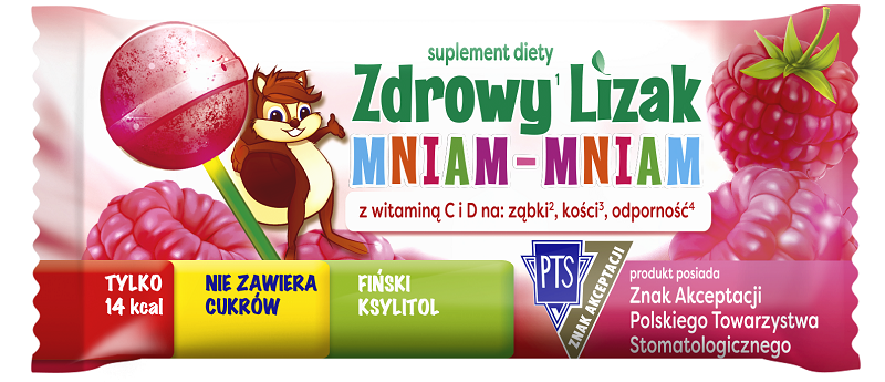 Zdrowy Lizak Mniam-Mniam Malina 1 szt.