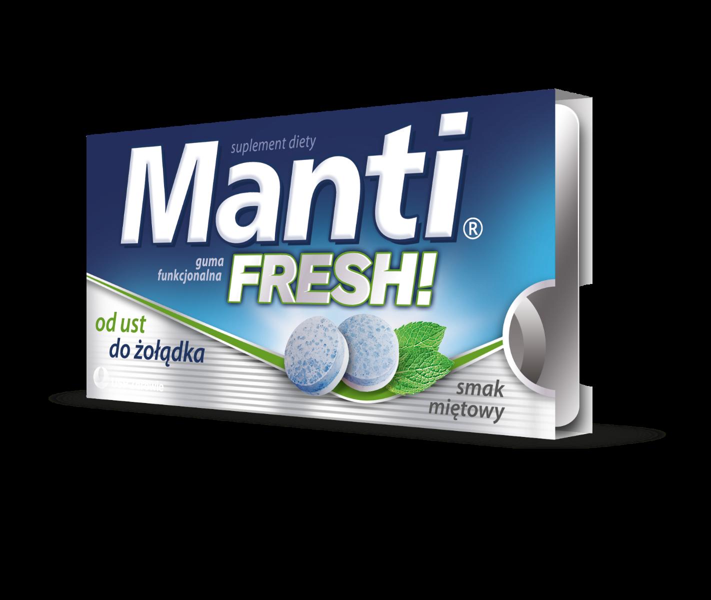 Manti Fresh - guma funkcjonalna smak miętowy