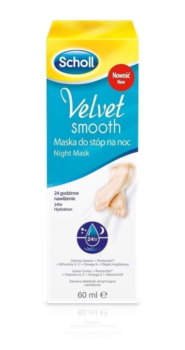 Scholl Velvet Smooth maska do stóp na noc