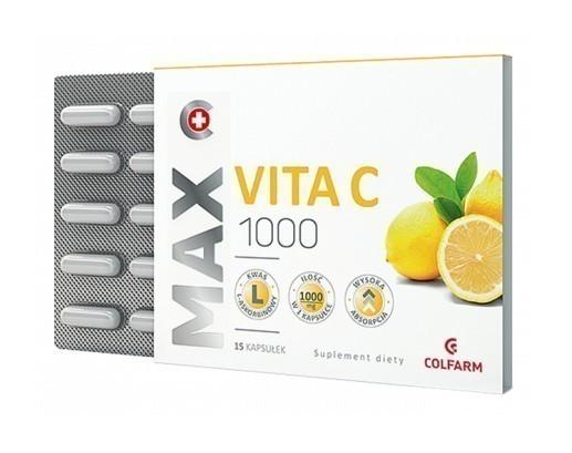 Max-Vita C 1000mg 15 Kapsułek