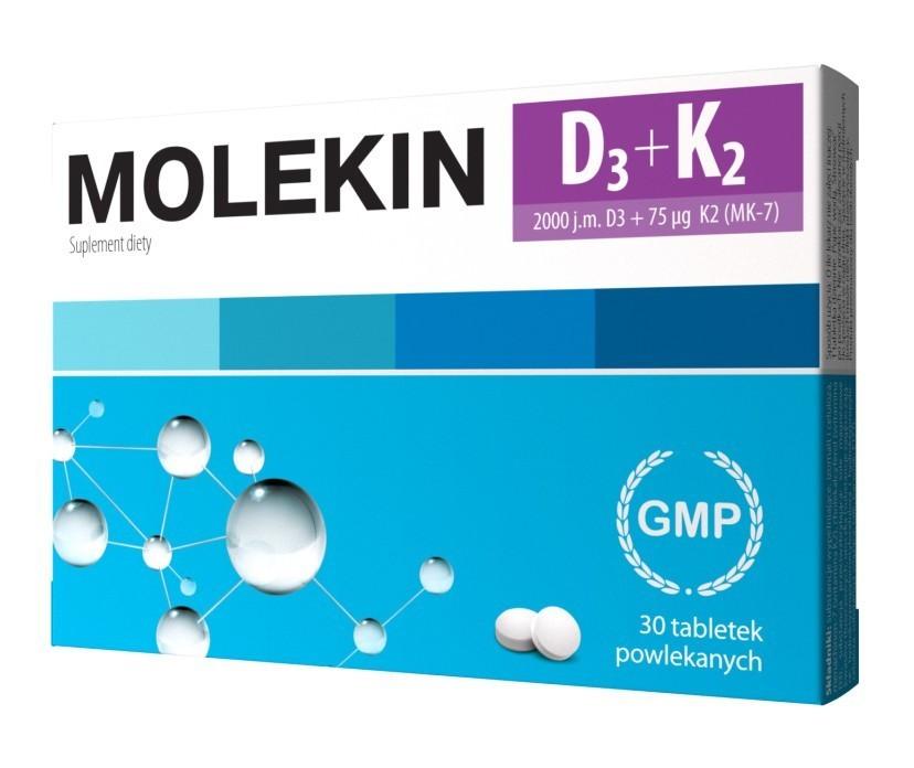 Molekin D3 + K2 30 Tabletek