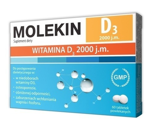 Molekin D3 2000 j.m. 60 Tabletek