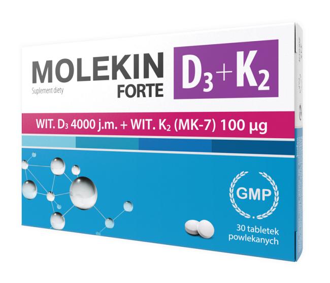 Molekin D3+K2 Forte 30 Tabletek