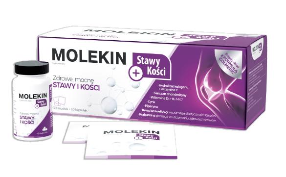 Molekin Stawy + Kości 60 kaps. + 30 sasz.