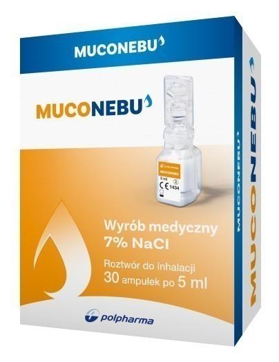 Nebu Muco 7% roztwór do inhalacji 30 ampułek