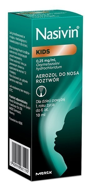 Nasivin Kids 0,025% Aerozol do nosa 10 ml
