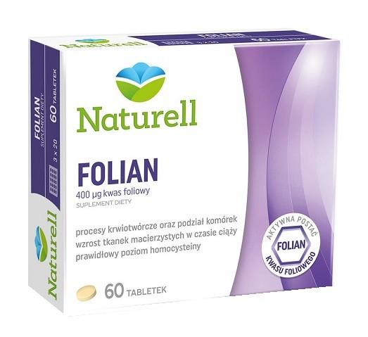 Naturell Folian 60 Tabletek