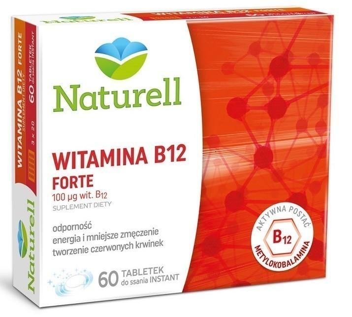 Naturell Witamina B12 Forte 60 Tabletek Instant