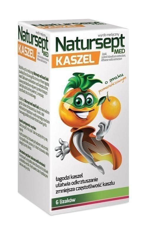 Natursept Lizaki na kaszel o smaku pomarańczowym 6 szt.