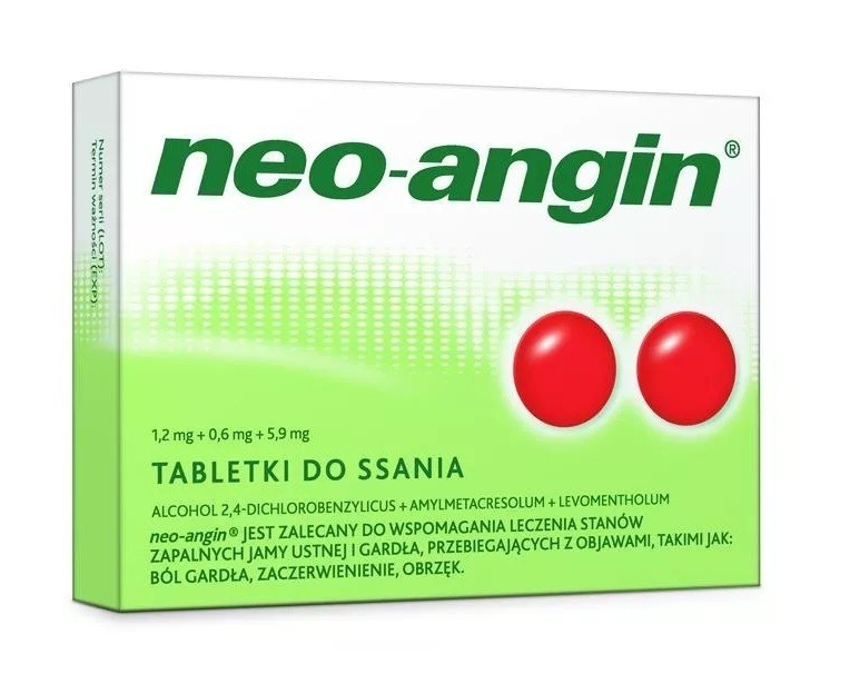 Neo-Angin Pastylki do ssania